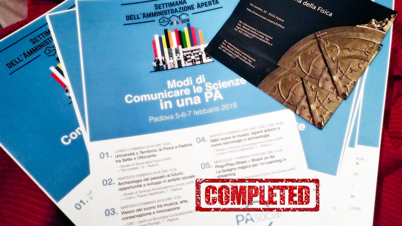 #SAA2018 Padova. Concluso (con soddisfazione!) il primo appuntamento